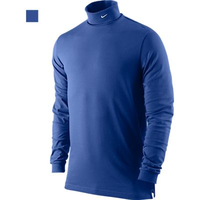 Nike Dri-FIT Jersey Men's Golf Turtle Neck - Game Royal/White