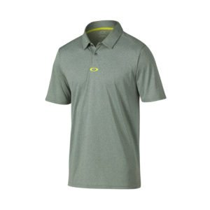 Oakley Adams Golf Polo Shirt - Graphite/Light Heather