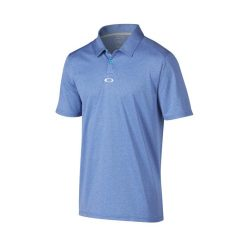 Oakley Adams Golf Polo Shirt - Sapphire/Light Heather