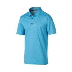 Oakley Adams Golf Polo Shirt - Pacific Blue/Light Heather