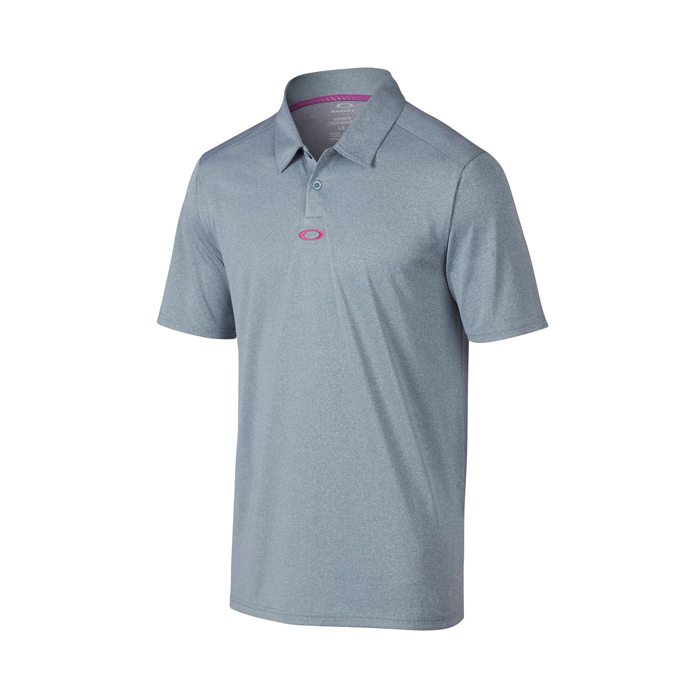 Oakley Adams Golf Polo Shirt - Blue Mirage/Light Heather