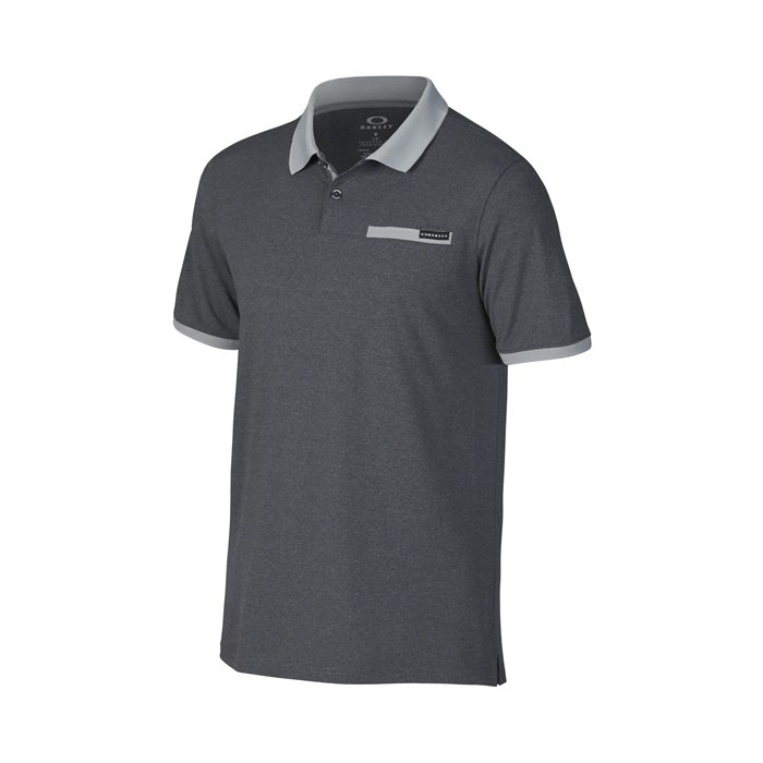 Oakley Myers Golf Polo Shirt - Jet Black/Heather