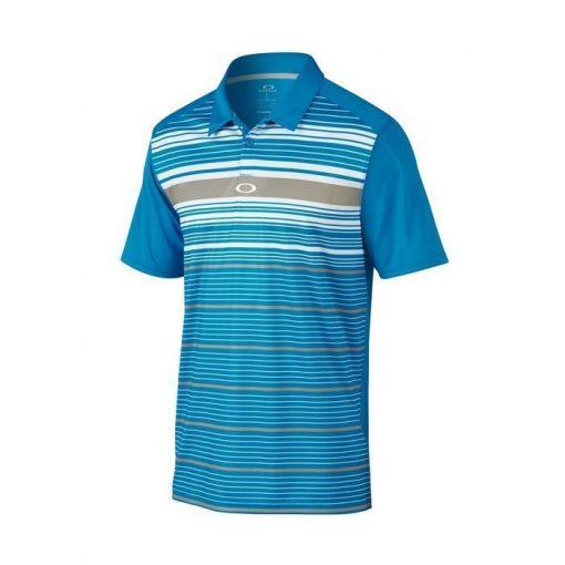 Oakley Legacy Golf Polo Shirt - Pacific Blue