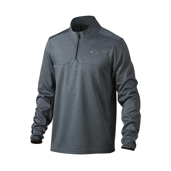 Oakley Scores 1/4 Zip Golf Pullover - Graphite