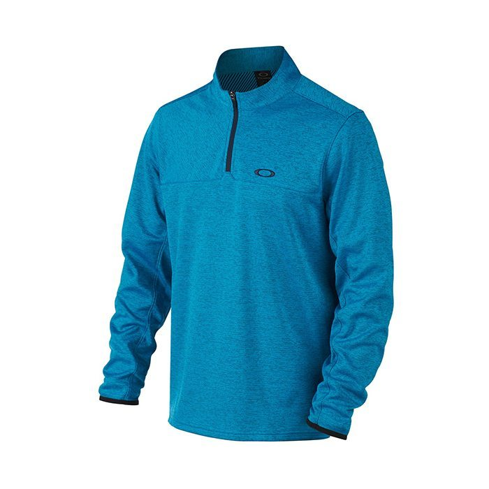 Oakley Scores 1/4 Zip Golf Pullover - Pacific Blue