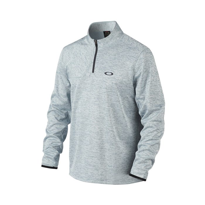 Oakley Scores 1/4 Zip Golf Pullover - Blue Mirage/Light Heather