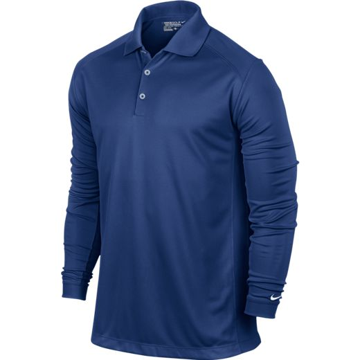 Nike UV Victory Longsleeve Polo - Deep Royal Blue/White