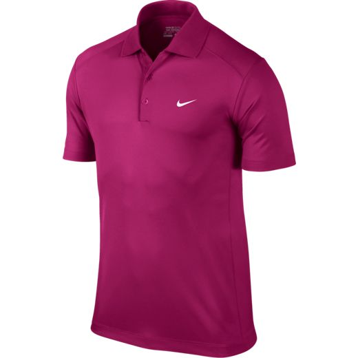 Nike Victory Men's Golf Polo Shirt - Sport Fuchsia/White