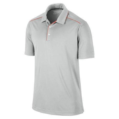 Nike Key Iconic 2.0 Men's Golf Polo Shirt - Grey/Orange/Silver