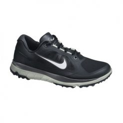 Nike Golf FI Impact Shoes - Black/Metallic Silver/Light Grey/Dark Grey