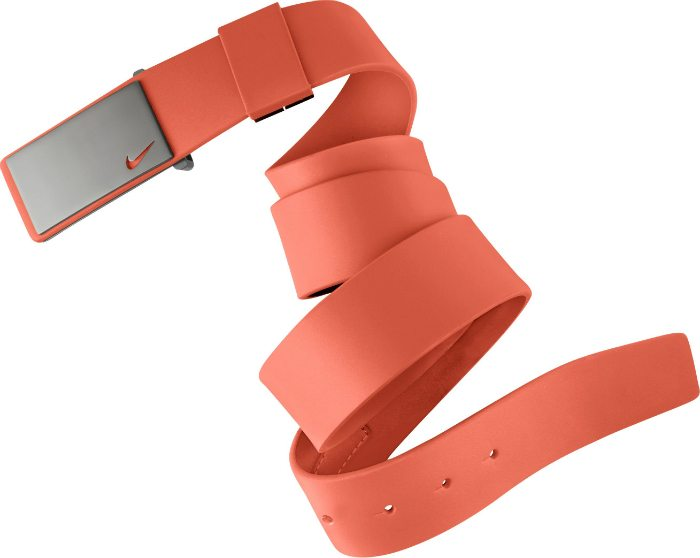 Nike Sleek Plaque Golf Belt - Electro Orange