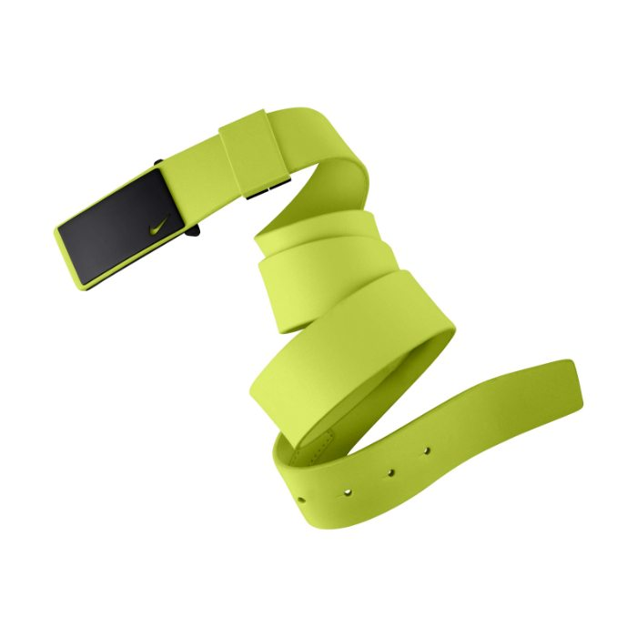Nike Sleek Plaque Golf Belt - Volt