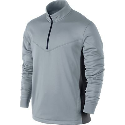 Nike Mens Half Zip Therma-Fit Cover Up - LT Magnet Grey/Dark Grey/Metallic Silver