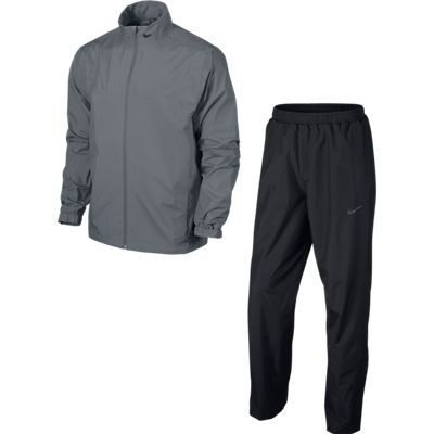 Nike Golf Mens New Storm-Fit Packable Rain Suit - Cool Grey/Black/Anthracite
