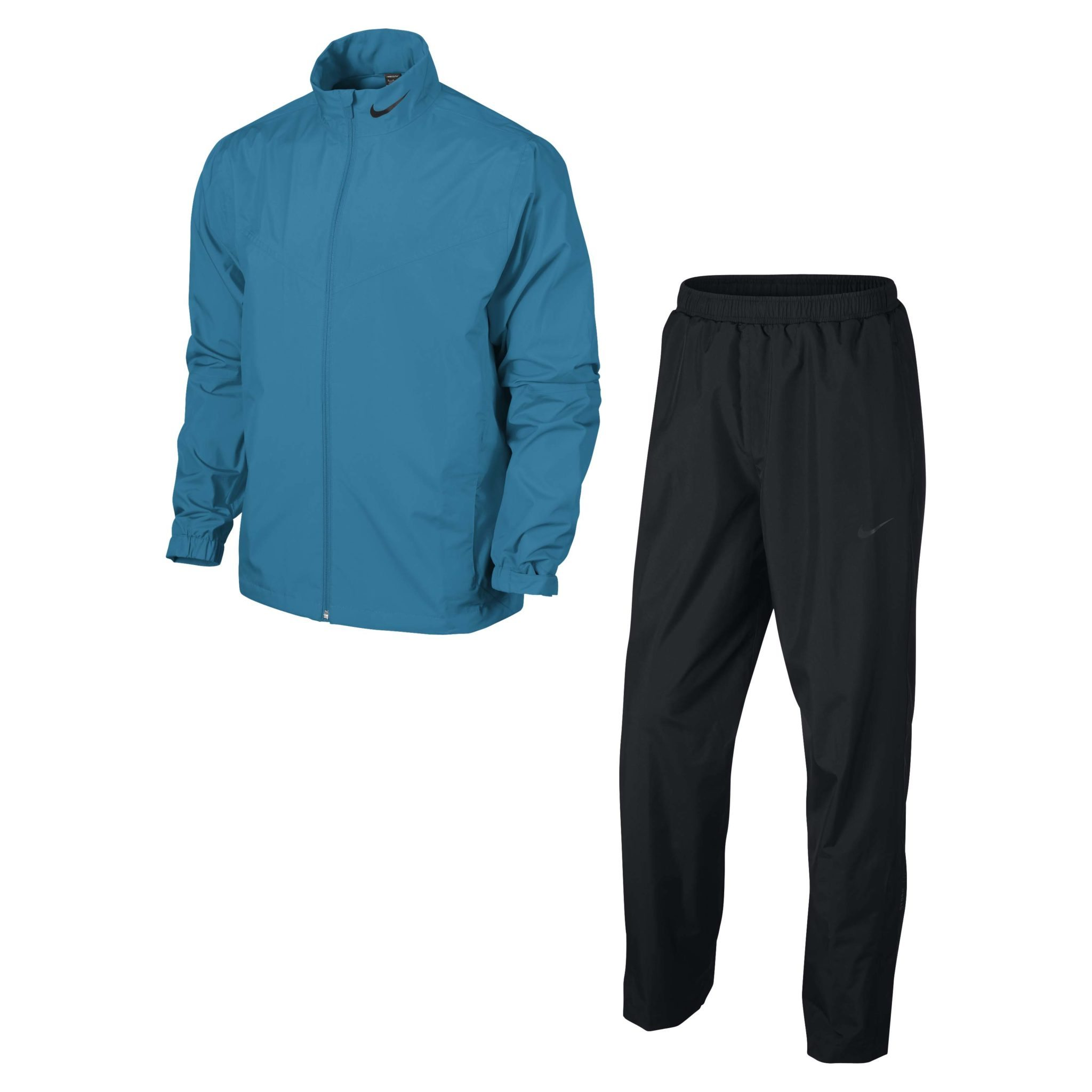 Nike Golf Mens New Storm-Fit Packable Rain Suit - Light Blue Lacquer/Black/Black