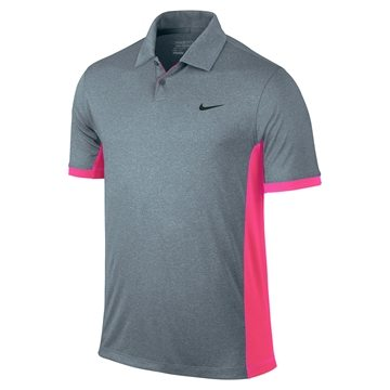 Nike Victory Block Polo LC - Blue Graphite/Heather/Pink Pow/Anthracite