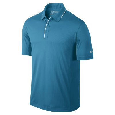 Nike Golf Tech Tipped Polo - Light Blue Lacquer/White/Wolf grey