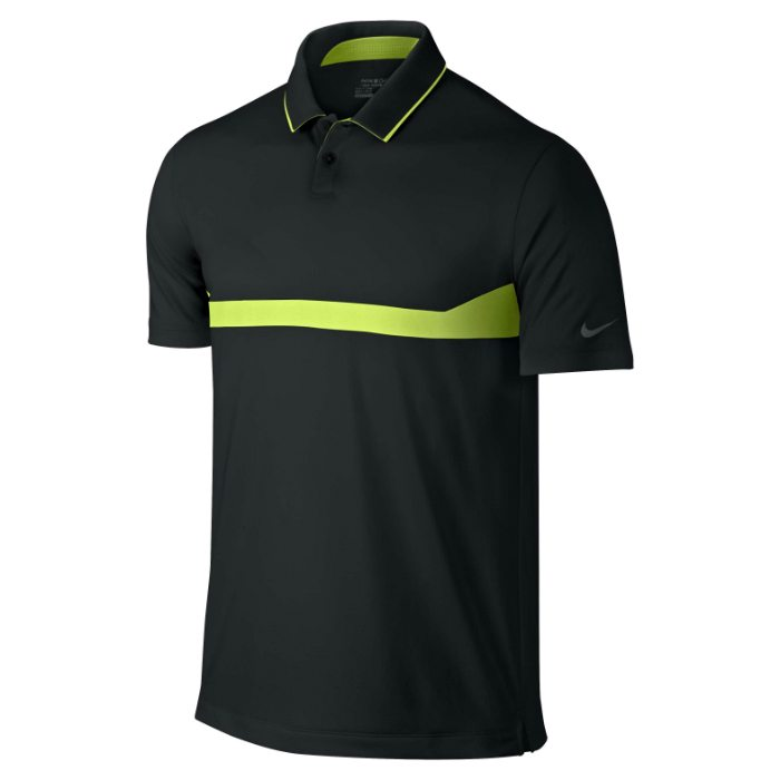 Nike Major Moment Ace Men's Golf Polo Shirt - Black/Volt/Anthracite