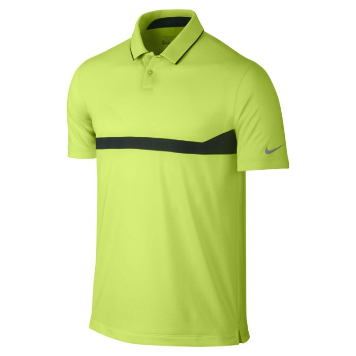 Nike Major Moment Ace Men's Golf Polo Shirt - Volt/Anthracite/Wolf Grey