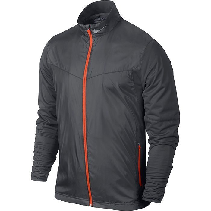 Nike Shield Full Zip Golf Jacket - Dark Grey/Electro Orange/Anthracite
