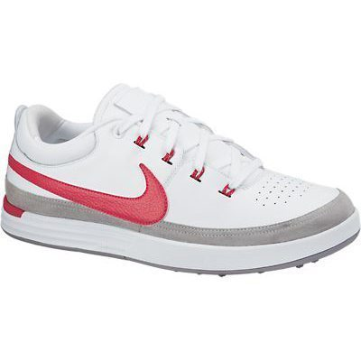 Nike Lunar Waverly Golf Shoes - White/Action Red/Light Bone