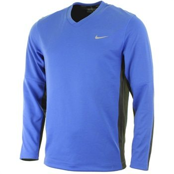 Nike Golf Mens Dri-Fit Tech LC Sweater - Game Royal/Anthracite/Metallic Silver