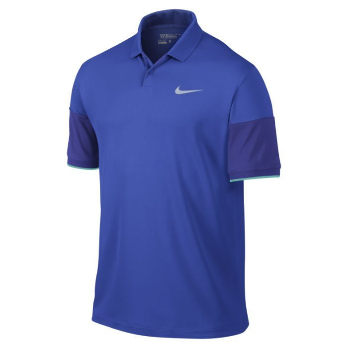 Nike Modern Major Moment Commander Men's Golf Polo Shirt - Lyon Blue/Deep Royal Blue/Wolf Grey