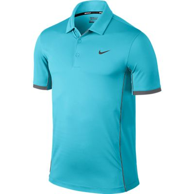 Nike Modern Tech Ultra Golf Polo Shirt - Clearwater/Dark Grey/Wolf Grey
