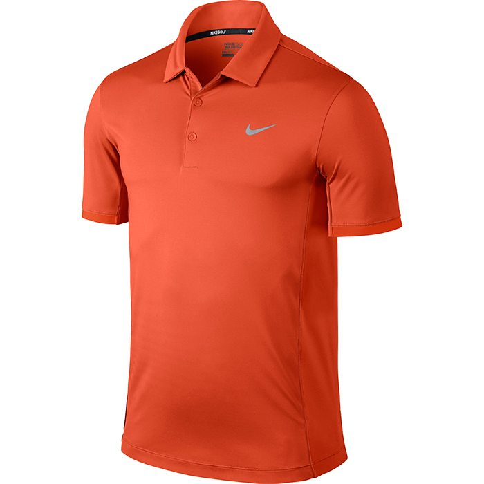 Nike Modern Tech Ultra Golf Polo Shirt - Electro Orange/Wolf Grey