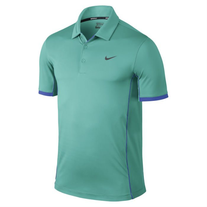 Nike Modern Tech Ultra Golf Polo Shirt - Lt Retro/Lyon Blue/Wolf Grey