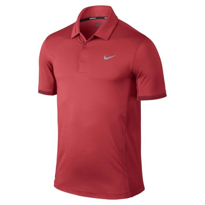 Nike Modern Tech Ultra Golf Polo Shirt - Daring Red/Gym Red/Wolf Grey
