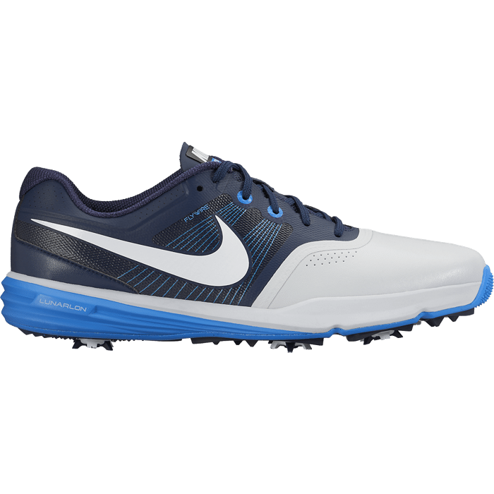 Nike Golf Lunar Command Shoes - Pure Platinum/White/Midnight Navy/Photo Blue