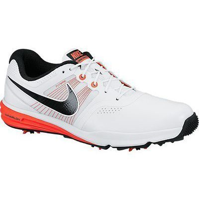 Nike Golf Lunar Command Shoes - White/Black/Bright Crimson