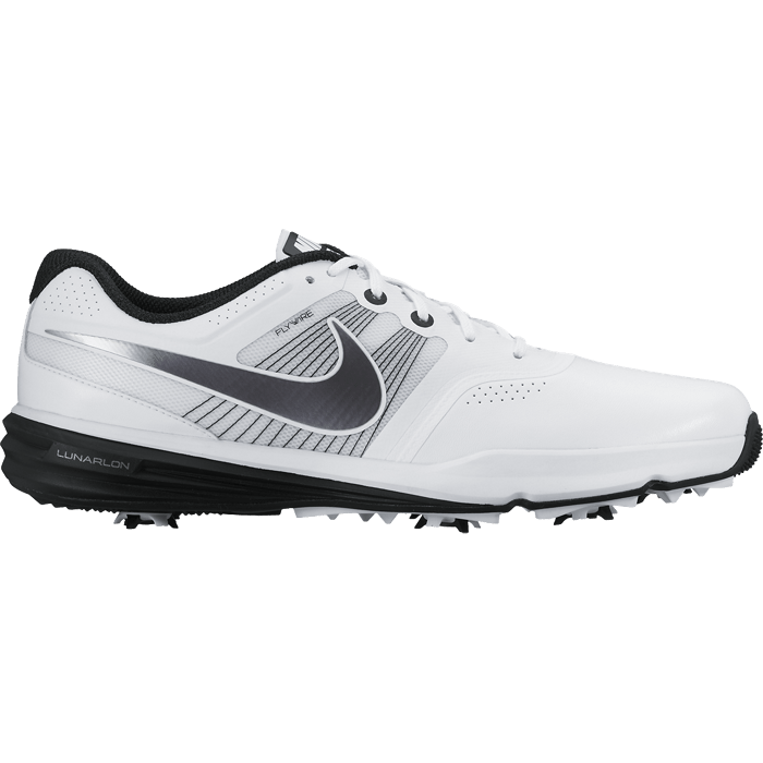 Nike Golf Lunar Command Shoes - White/Metallic Cool Grey/Black