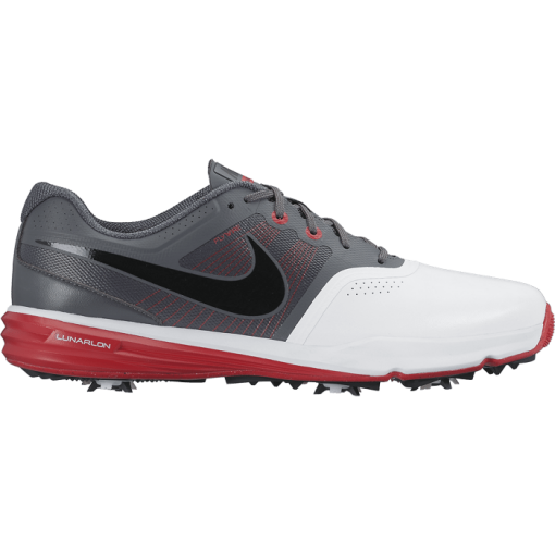 Nike Golf Lunar Command Shoes - White/Black/University Red