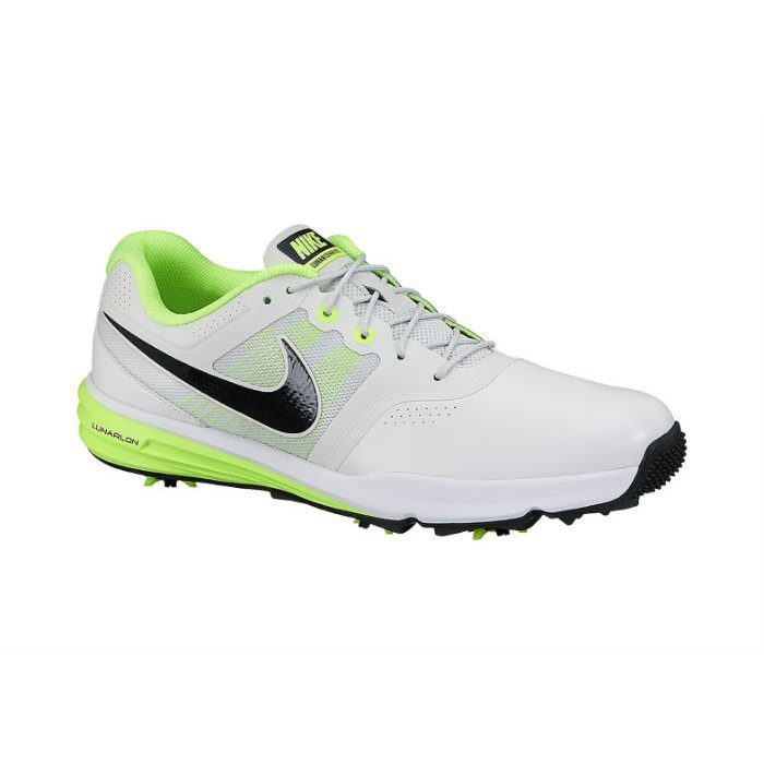 Nike Golf Lunar Command Shoes - Pure Platinum/Black/Volt