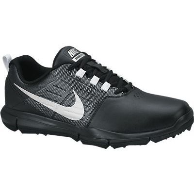 Nike Explorer Lea Golf Shoes - Black/Metallic Silver/Cool Grey