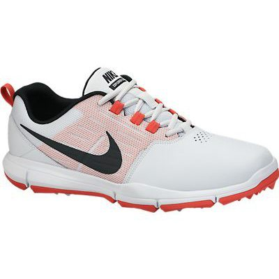 Nike Explorer Lea Golf Shoes - Pure Platinum/Black/Daring Red