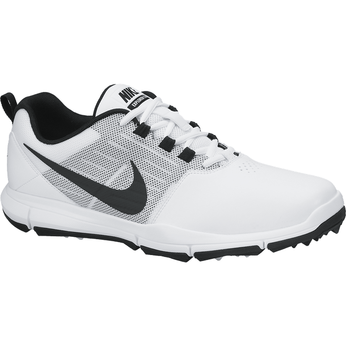Nike Explorer Lea Golf Shoes - White/Black/Pure Platinum