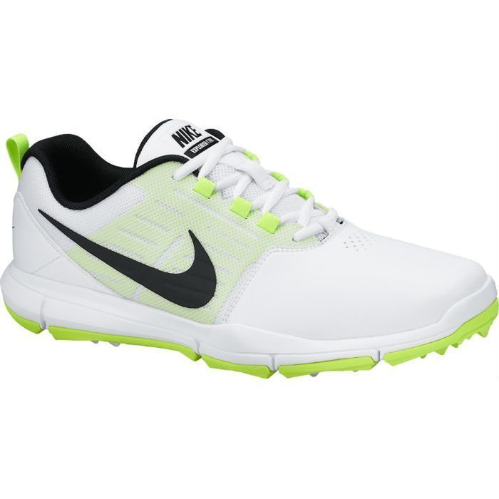 Nike Explorer Lea Golf Shoes - White/Black/Volt