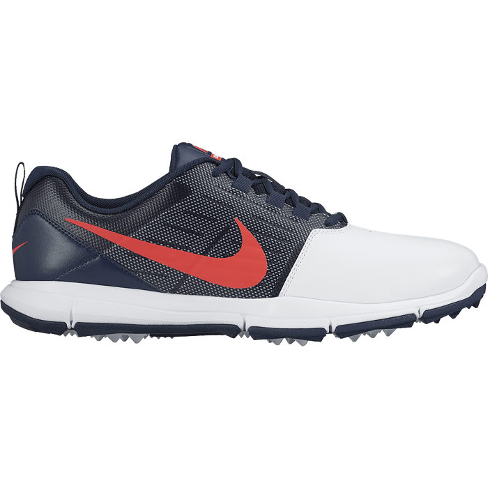 Nike Explorer Lea Golf Shoes  White Bright Crimson Obsidian