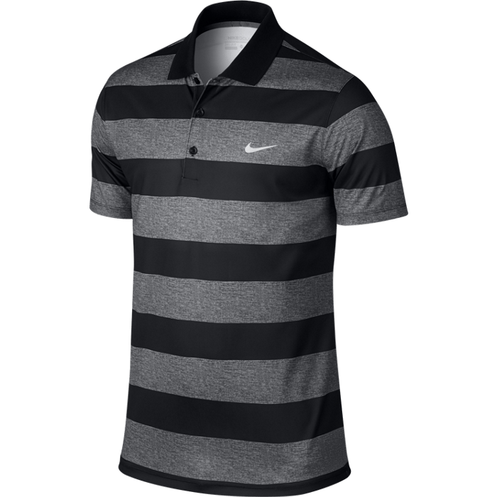 Nike Victory Bold Stripe Polo - Dark Grey/Black/White