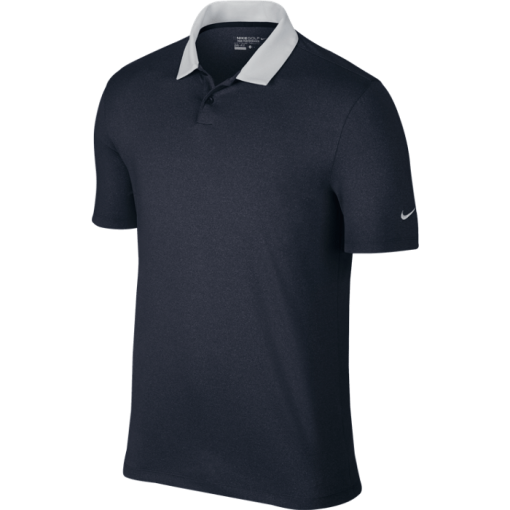 Nike Golf Icon Heather Polo Shirt - Obsidian Heather/White