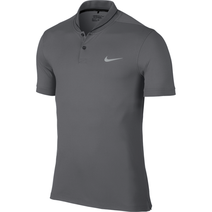 Nike Golf Modern Fit Transition Dry Roll Polo Shirt - Dark Grey/Black/Silver