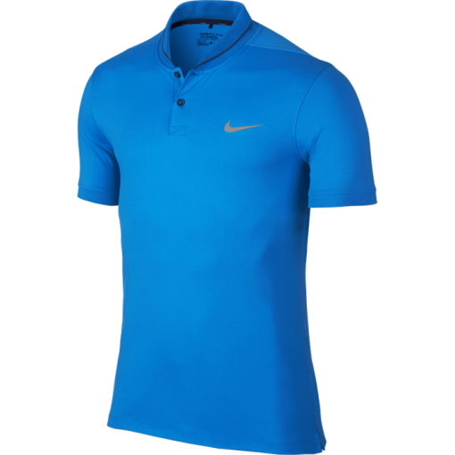 Nike Golf Modern Fit Transition Dry Roll Polo Shirt - Photo Blue/Midnight Navy/Silver