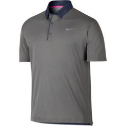 Nike Modern Transition Chambray Golf Polo - Dark Grey/Anthracite/Wolf Grey