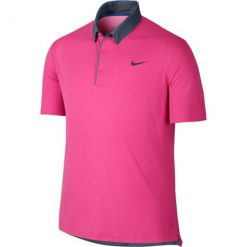 Nike Modern Transition Chambray Golf Polo - Pink Pow/Vivid Pink/Anthracite