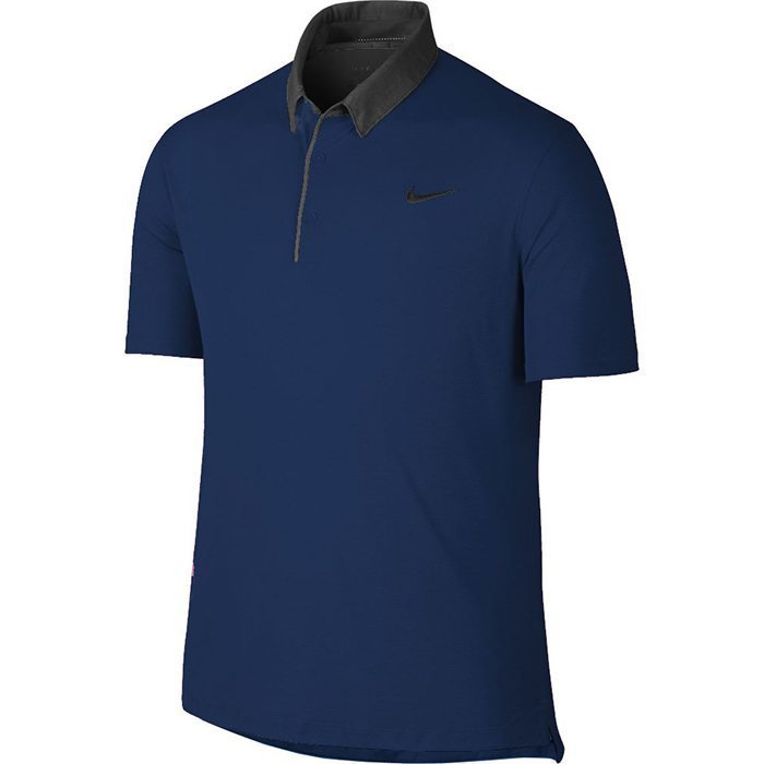 Nike Modern Transition Chambray Golf Polo - Deep Royal Blue/Photo Blue/Anthracite