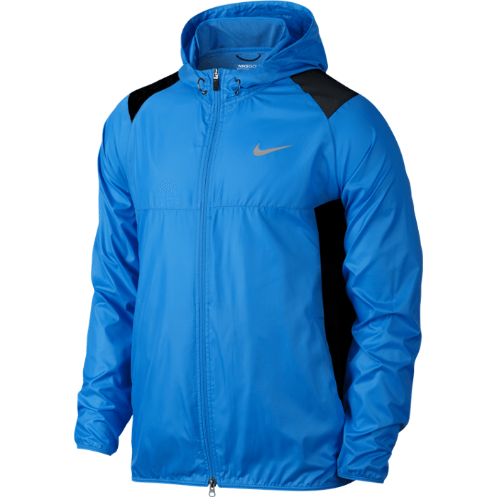 Nike Golf Range Packable Hooded Jacket - Photo Blue/Midnight Navy/Silver