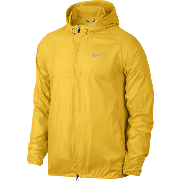 Nike Golf Range Packable Hooded Jacket - Varsity Maize/Wolf Grey/Silver